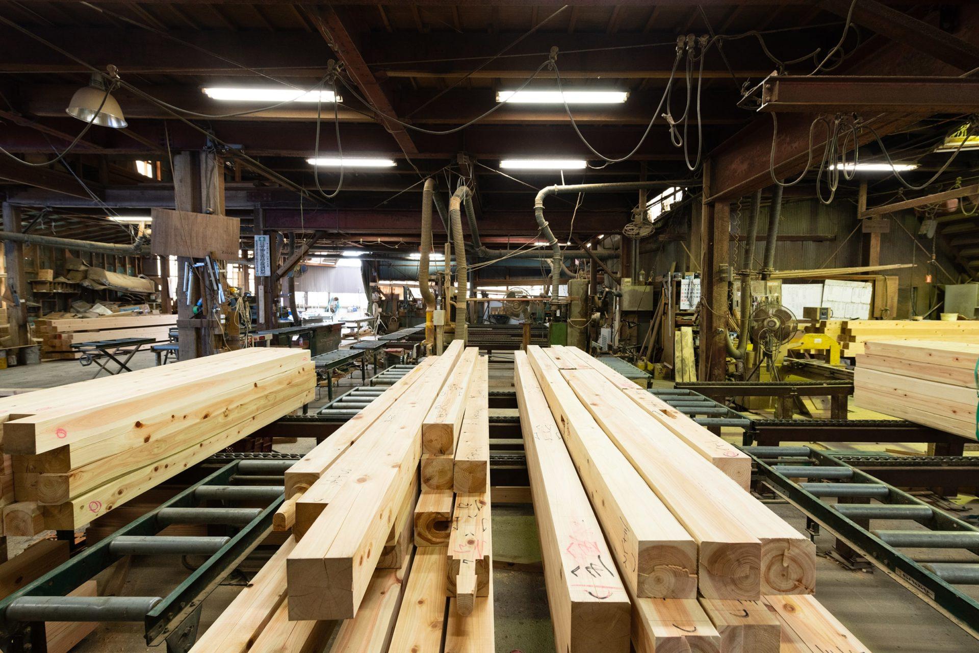 今井住建のプレカット工場