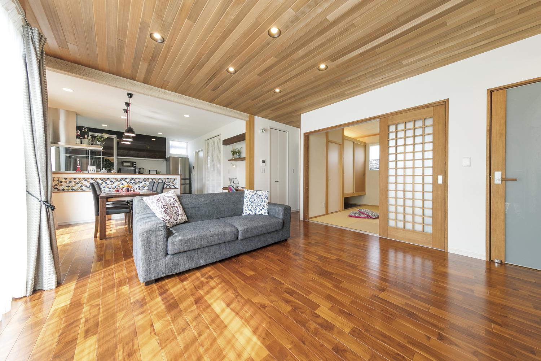 福山市の注文住宅|今井住建の施工事例ギャラリー「家族団らんのできる明るく広いLDK」