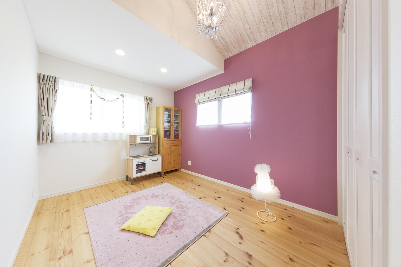 福山市の注文住宅|今井住建の施工事例ギャラリー「女の子の部屋はやっぱりピンク」