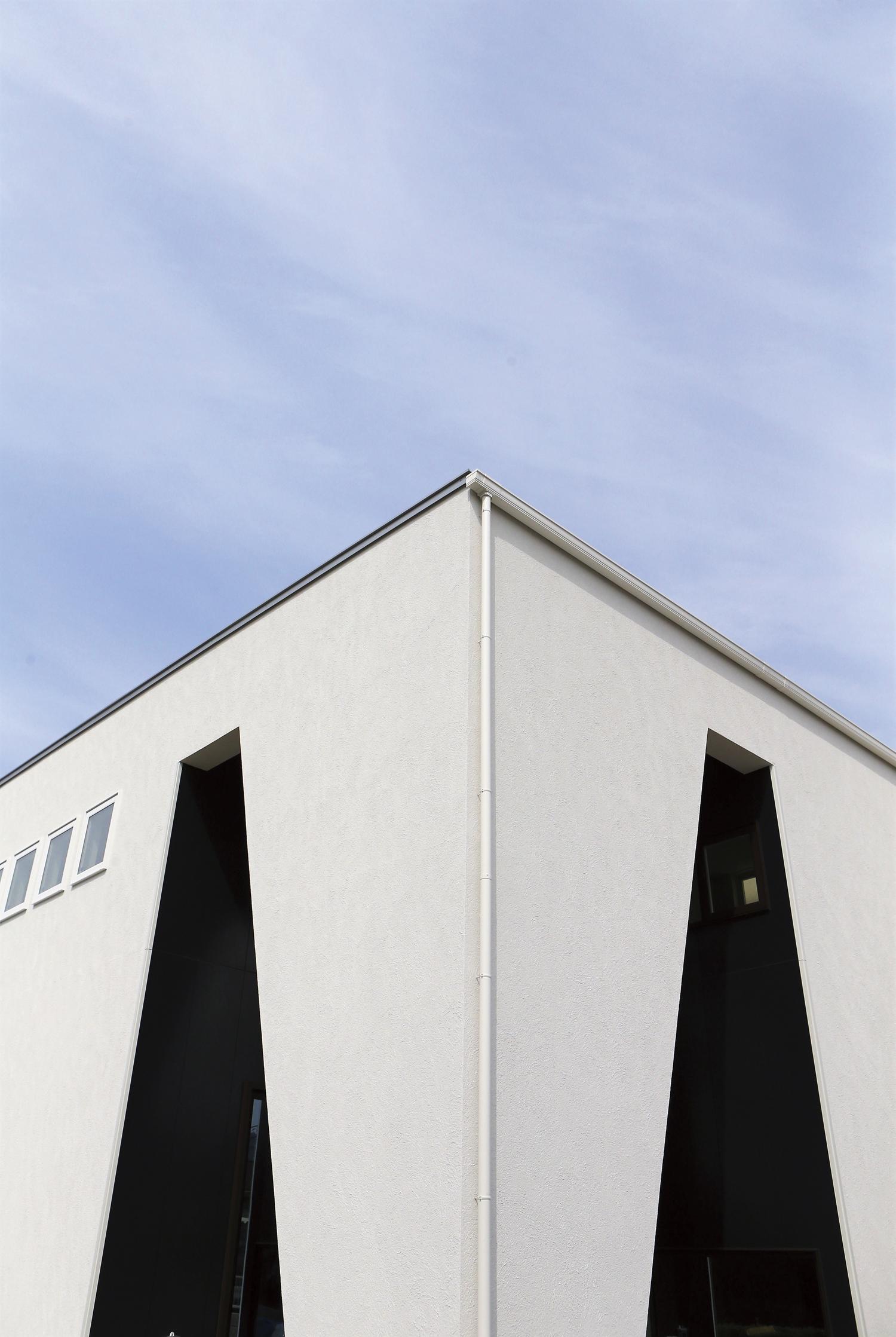 福山市の注文住宅|今井住建の施工事例ギャラリー「黒と白のコントラストがおしゃれ」