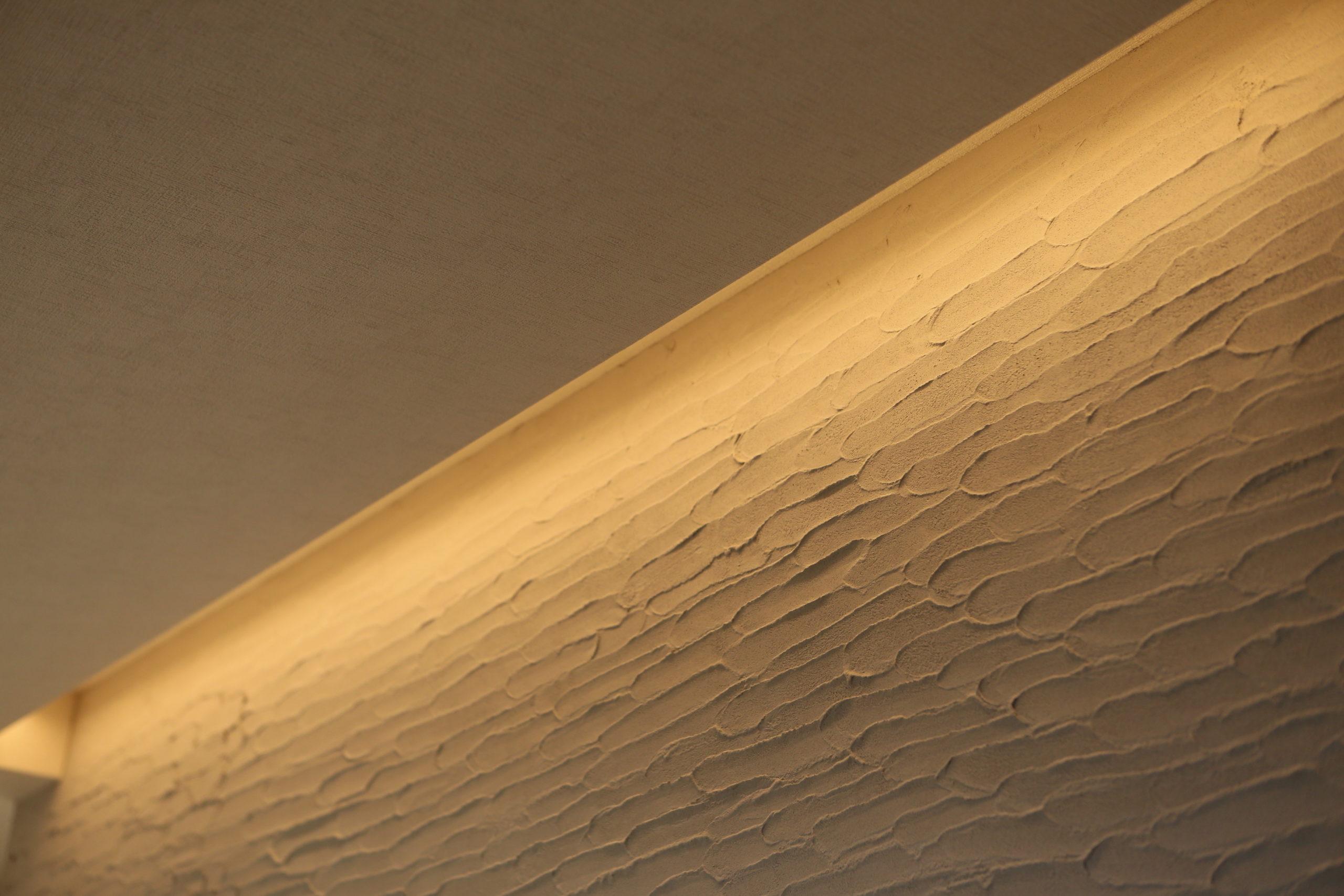 福山市の注文住宅|今井住建の施工事例ギャラリー「壁をおしゃれに演出する間接照明」
