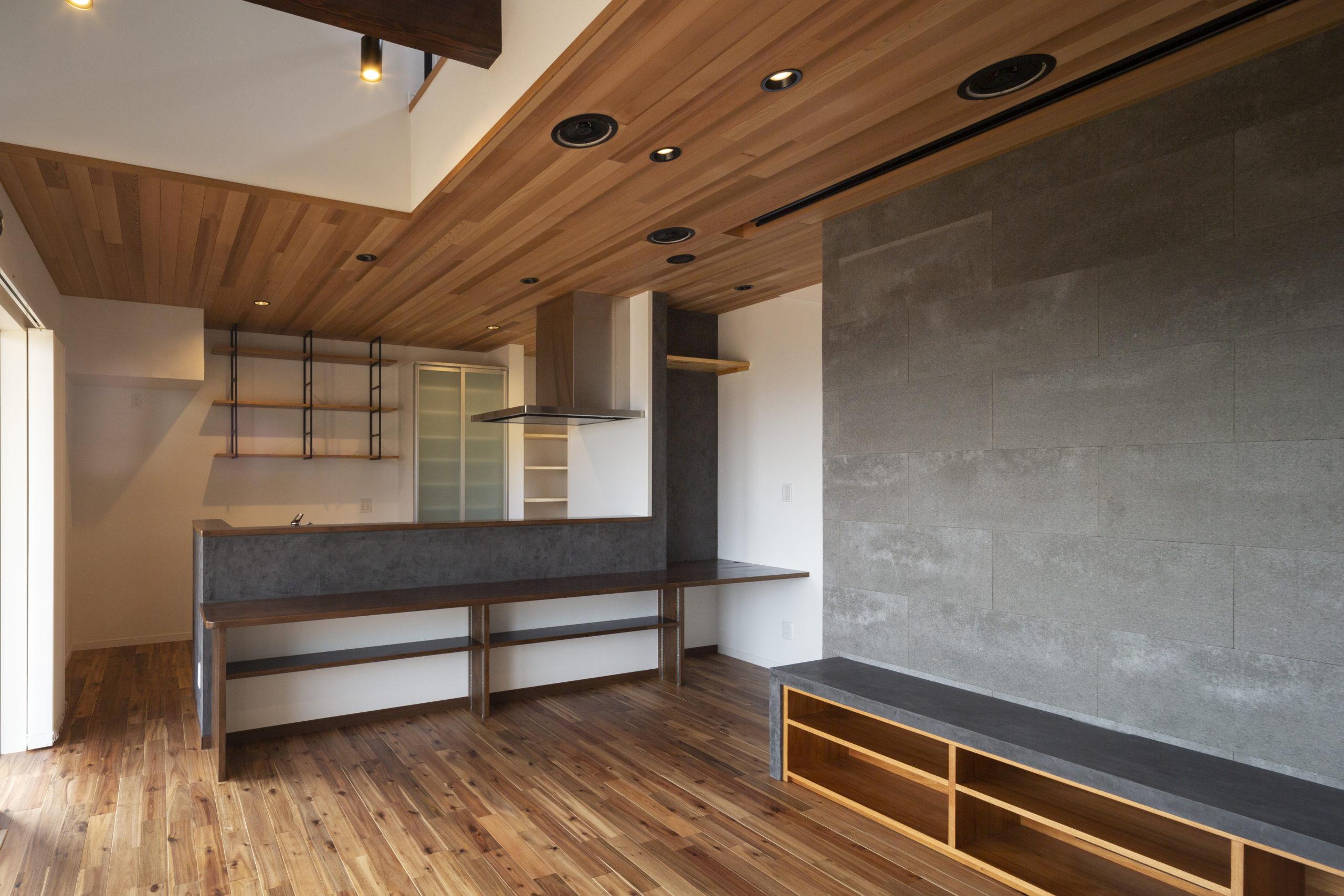 福山市の注文住宅|今井住建の施工事例ギャラリー「統一感のある洗礼されたLDK」