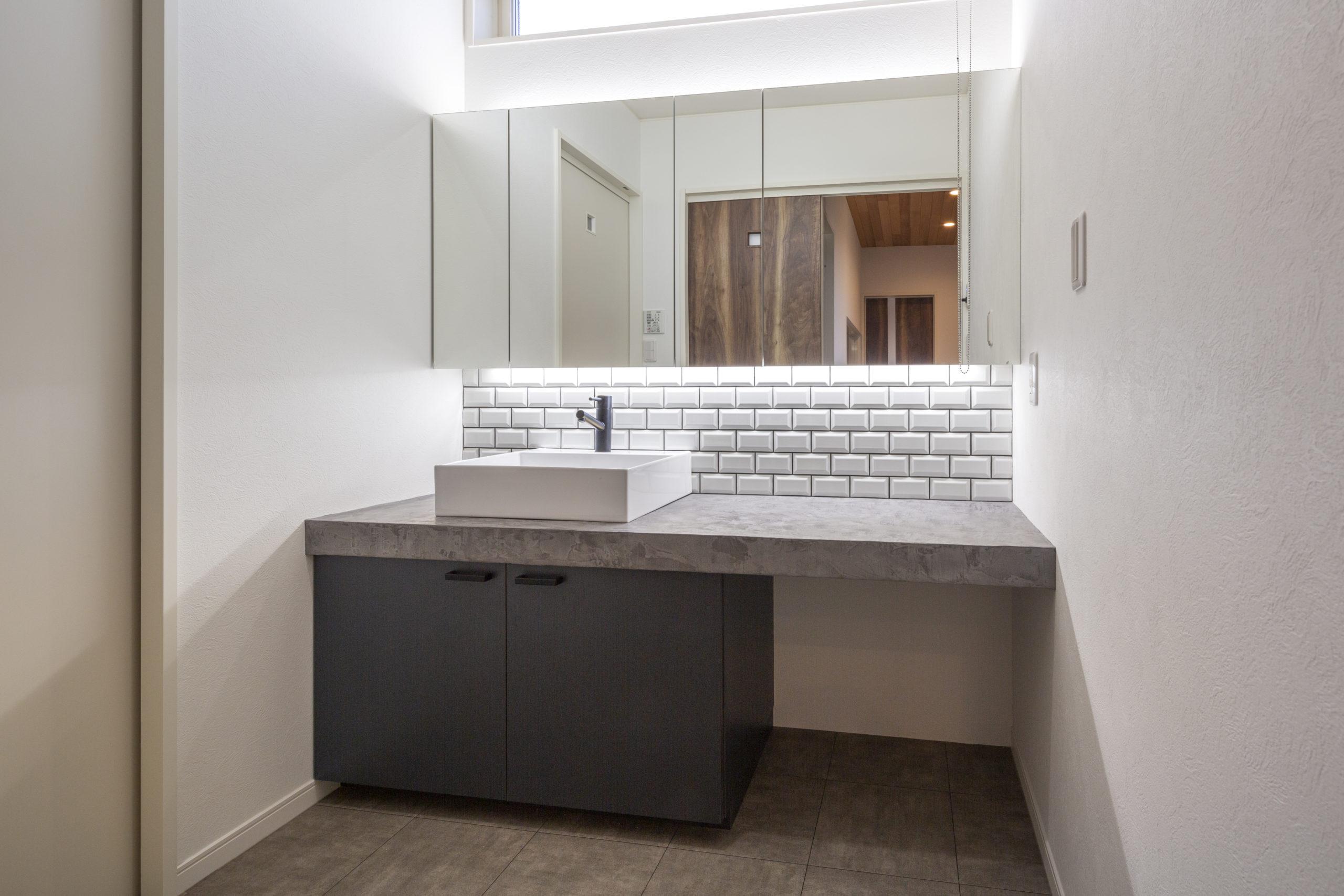 福山市の注文住宅|今井住建の施工事例ギャラリー「2人同時に使える広さは理想です」