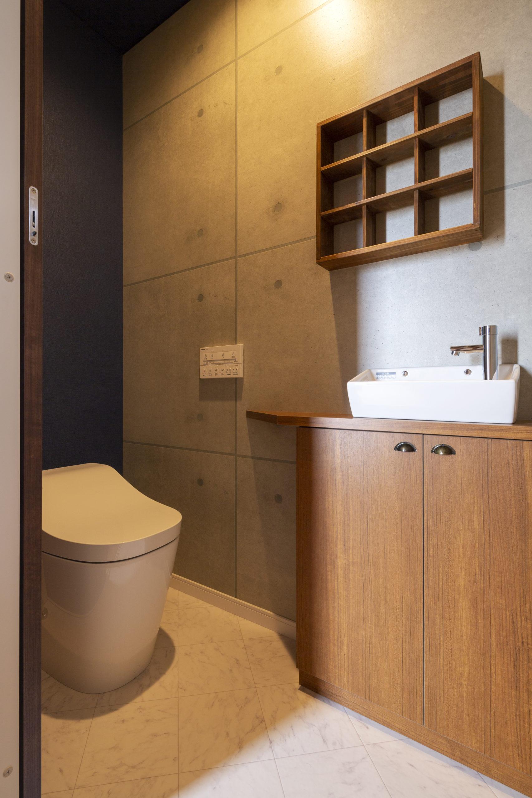 福山市の注文住宅|今井住建の施工事例ギャラリー「アクセントのクロスでスタイリッシュな空間に」