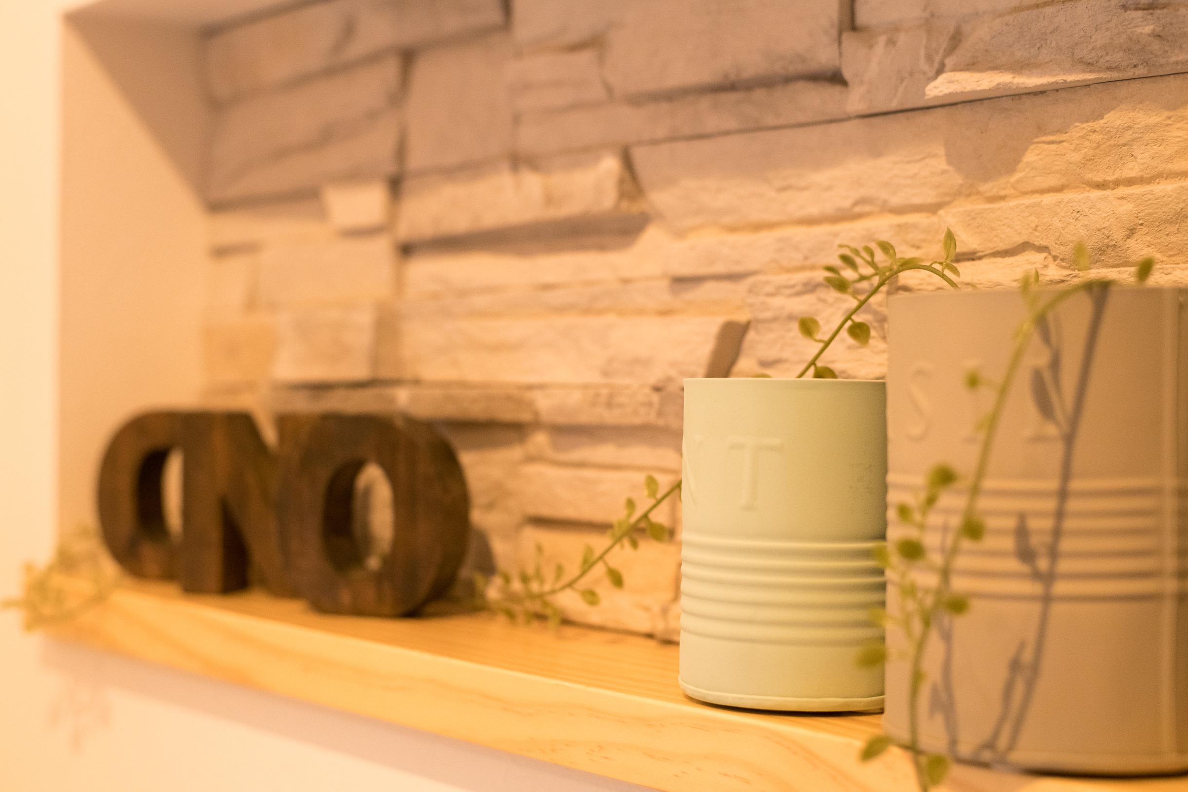 福山市の注文住宅|今井住建の施工事例ギャラリー「ニッチ棚は大切な写真を」