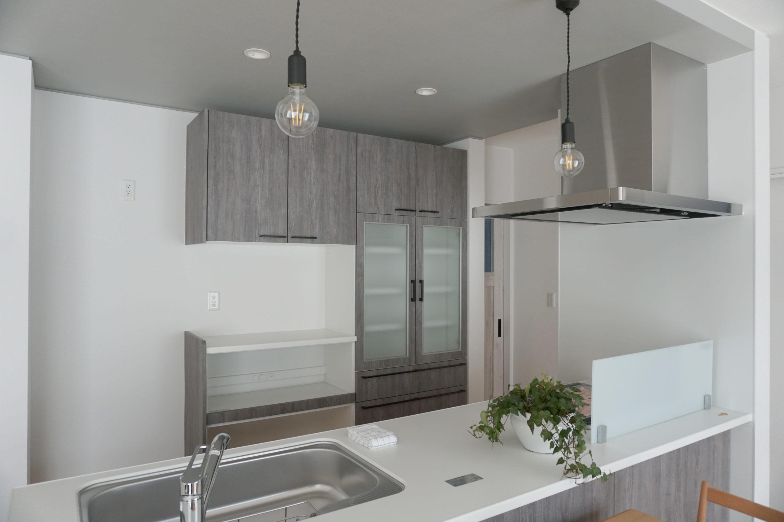 福山市の注文住宅|今井住建の施工事例ギャラリー「タカラスタンダードのキッチンはデザインだけじゃない、汚れに強い」