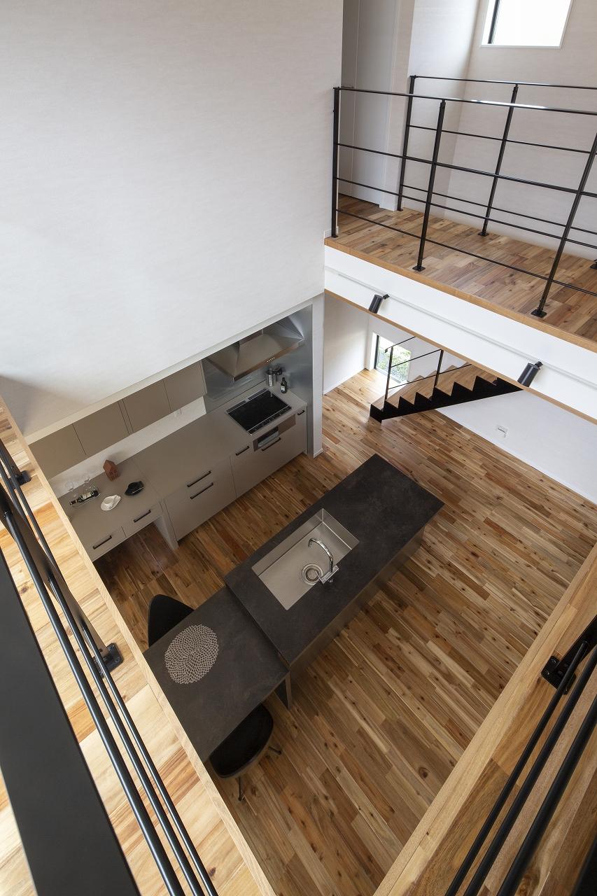 福山市の注文住宅|今井住建の施工事例ギャラリー「リビングの床は無垢材+回遊動線」