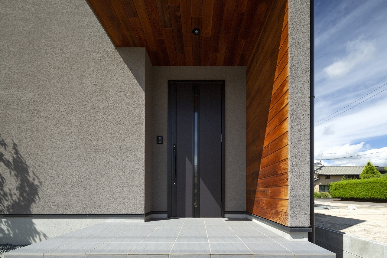福山市の注文住宅|今井住建の施工事例ギャラリー「玄関はこだわりポイントの1つ」