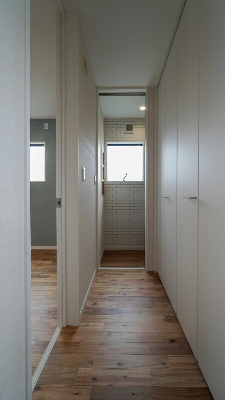 福山市の注文住宅|今井住建の施工事例ギャラリー「ハイドアは空間を広く見せるポイントです」