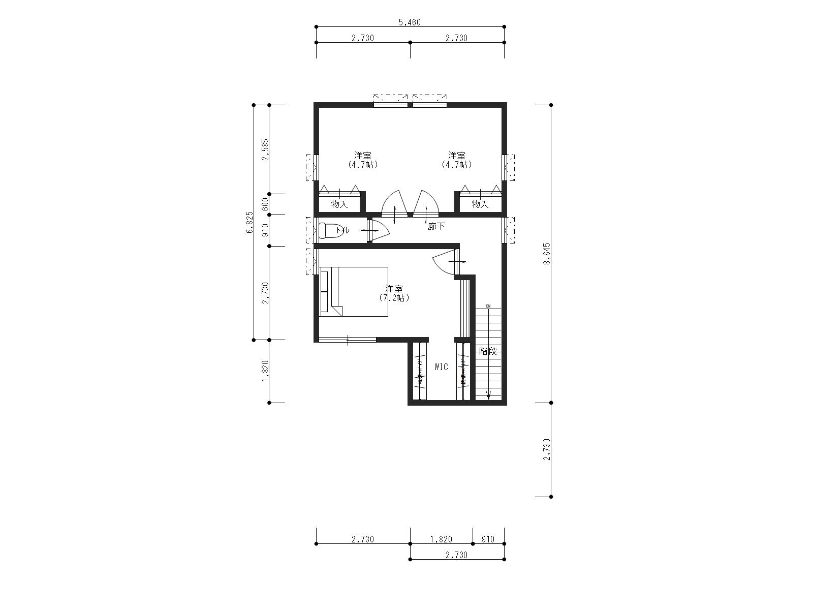 万能倉ガーデン2-1の2階間取り図