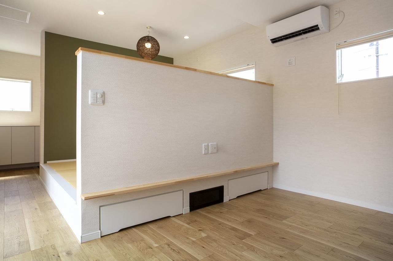 福山市の注文住宅|今井住建の施工事例ギャラリー「作り付けのローボードは、イメージが重要」