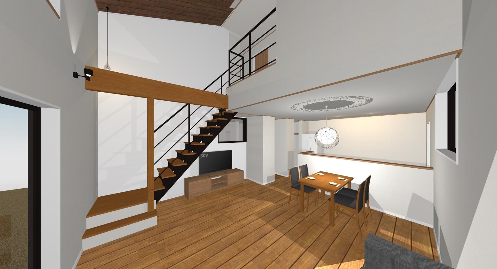 万下2号地新築住宅|広々したLDK。15.8帖あります
