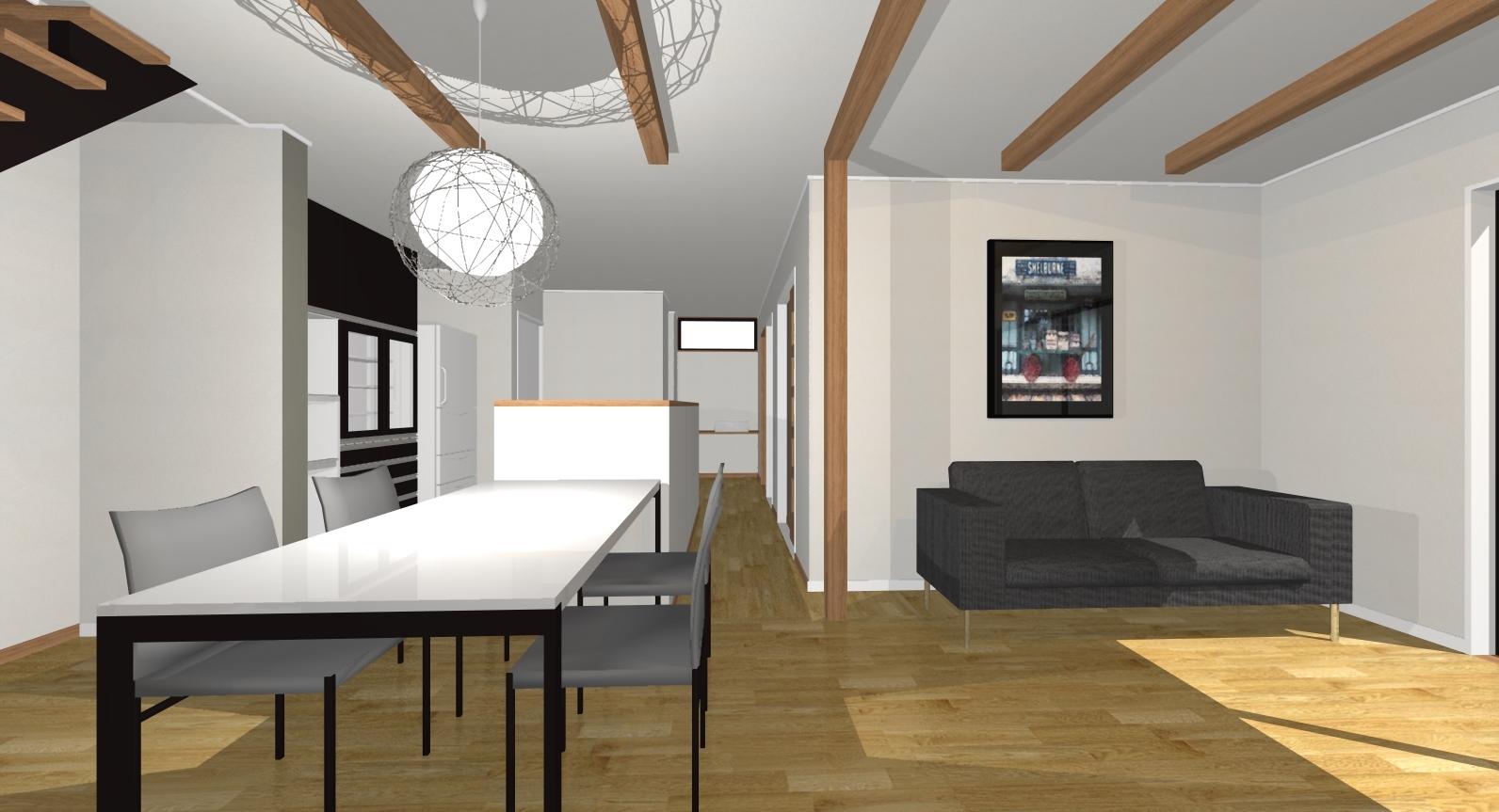 ガーデンシティ高木3号地新築住宅|広々したLDKは、21.7帖あります。