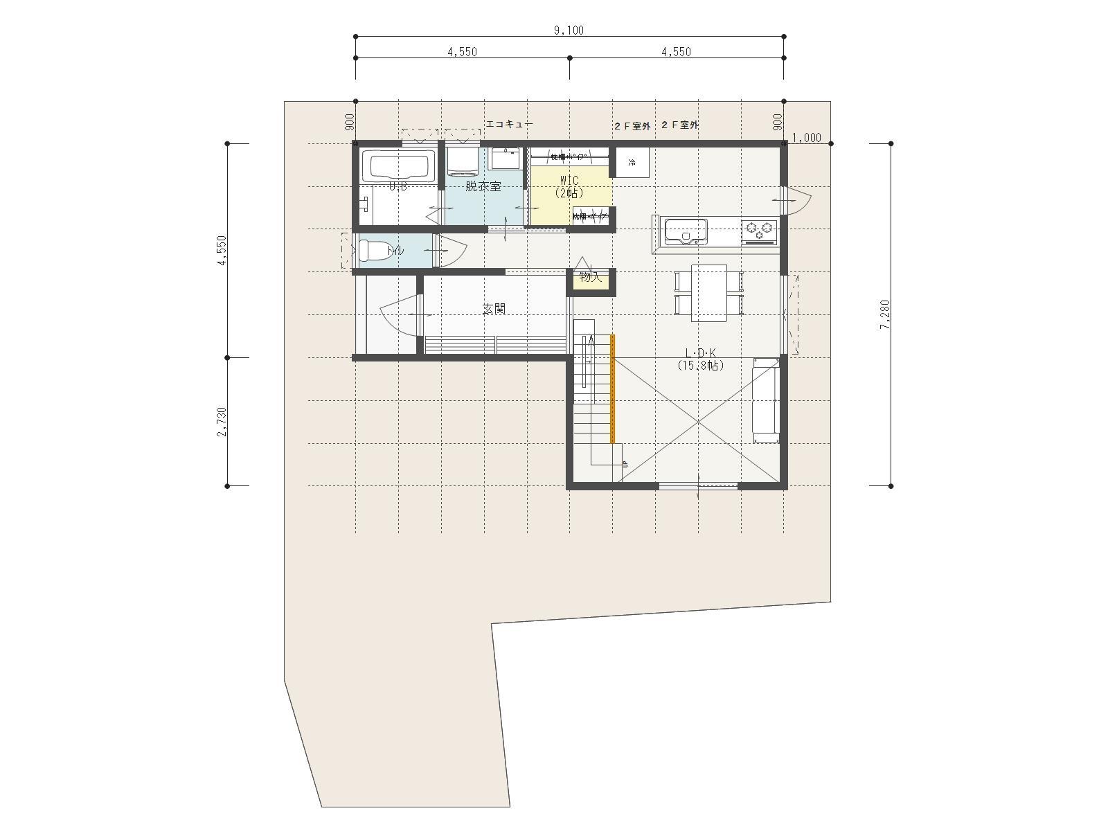 万下2号地新築住宅|車3台駐車可能