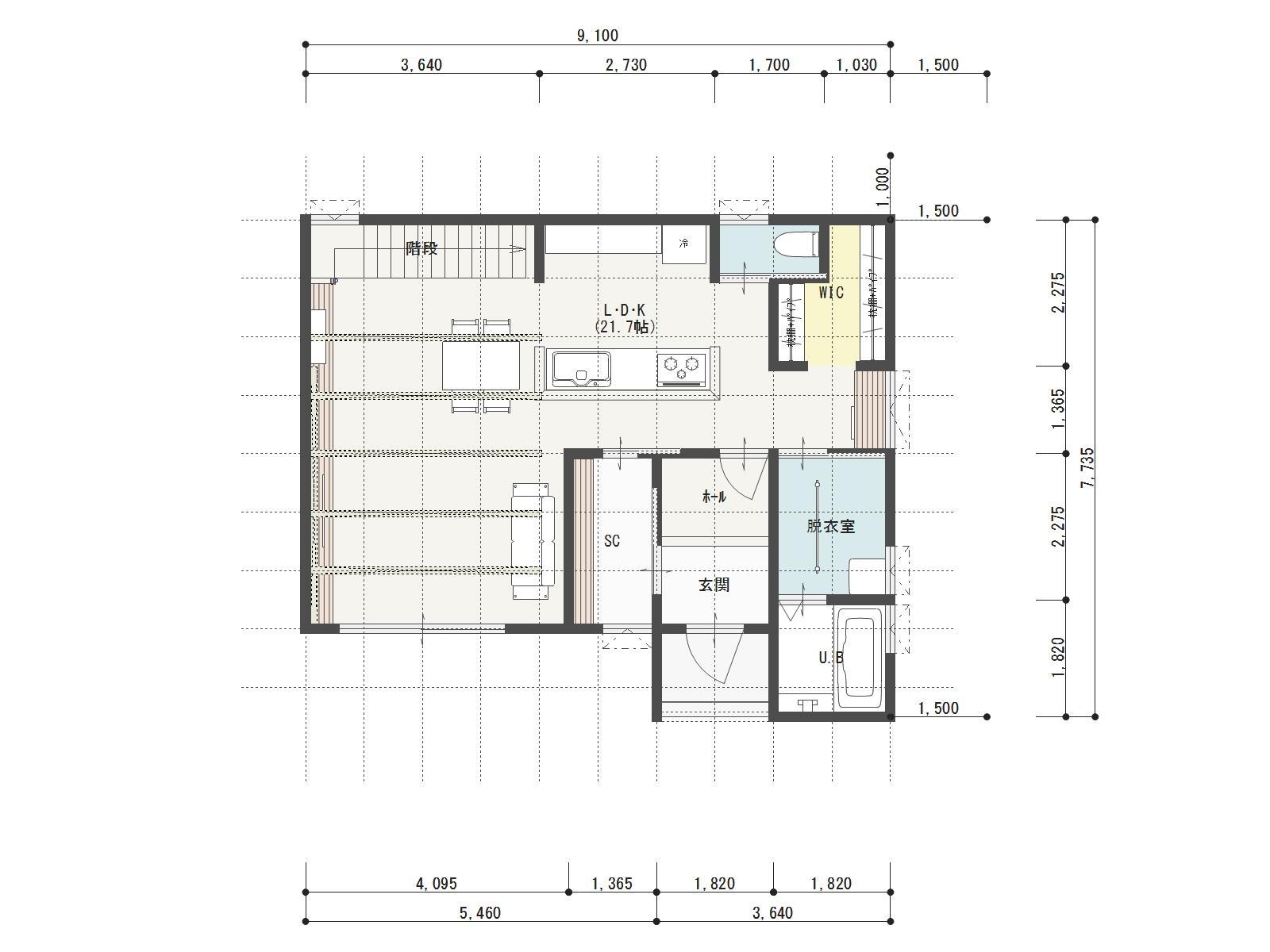 ガーデンシティ高木3号地新築住宅の1階間取り図