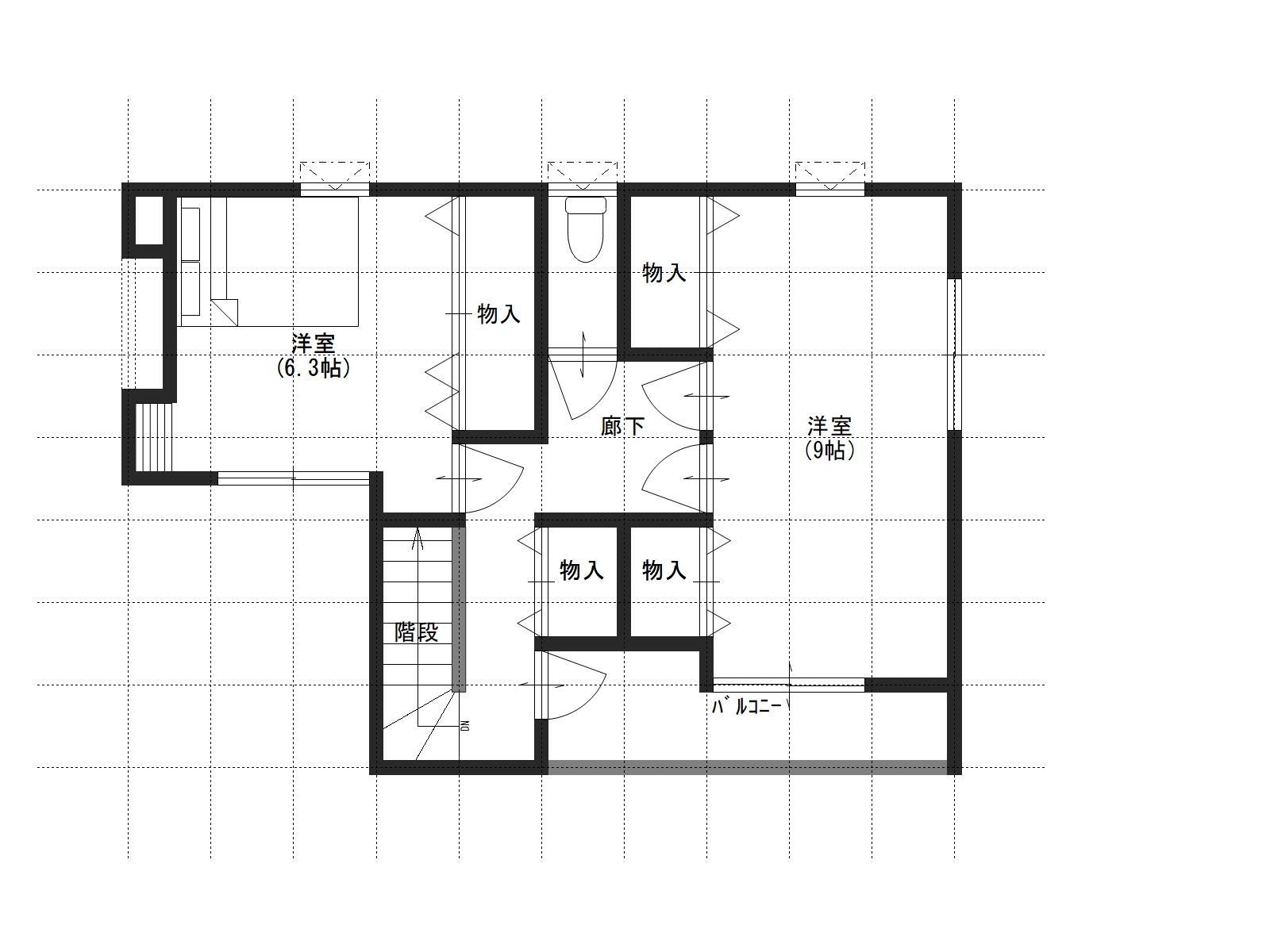 上山守C棟の2階間取り図